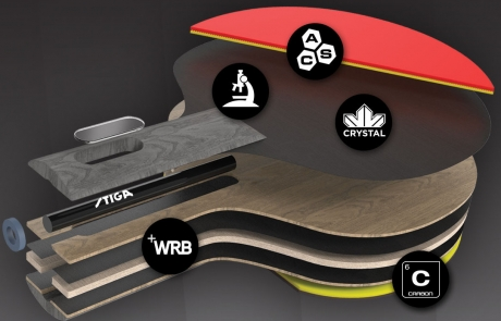 Stiga Pro Carbon Rubber
